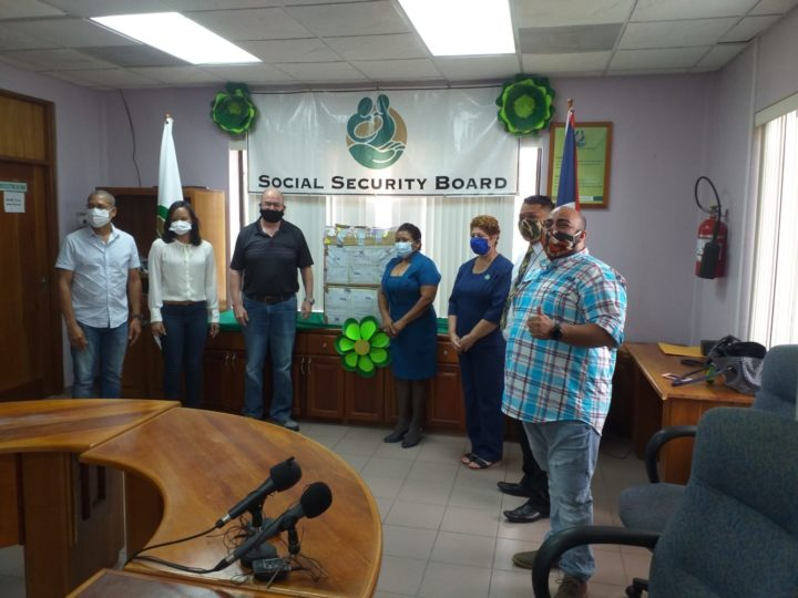 Transparent BPO donates to Belize Ministry of Health for COVID-19 relief.